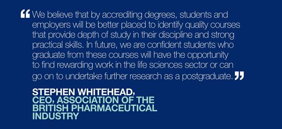 A quote about accreditation from Stephen Whitehead, CEO of the ABPI