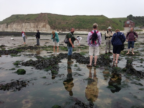 Yorkshire members at South Bay Flamborough edited